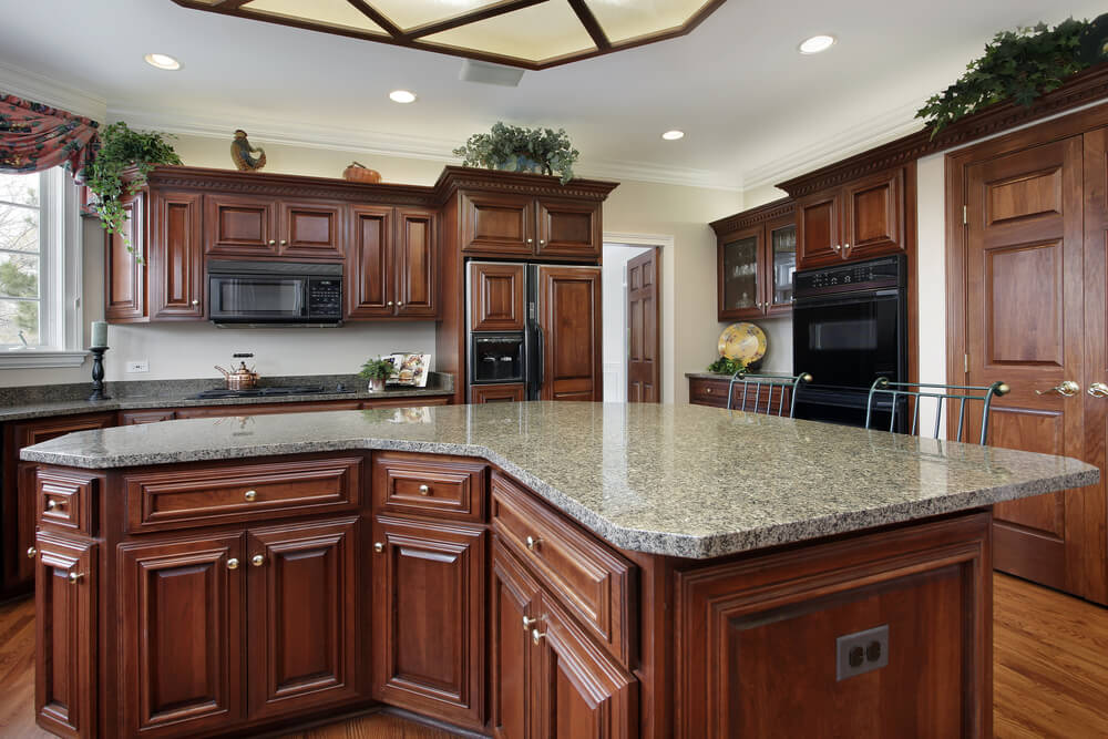 Kitchen Island Design Ideas doorway molding design ideas Curved Kitchen Island Design