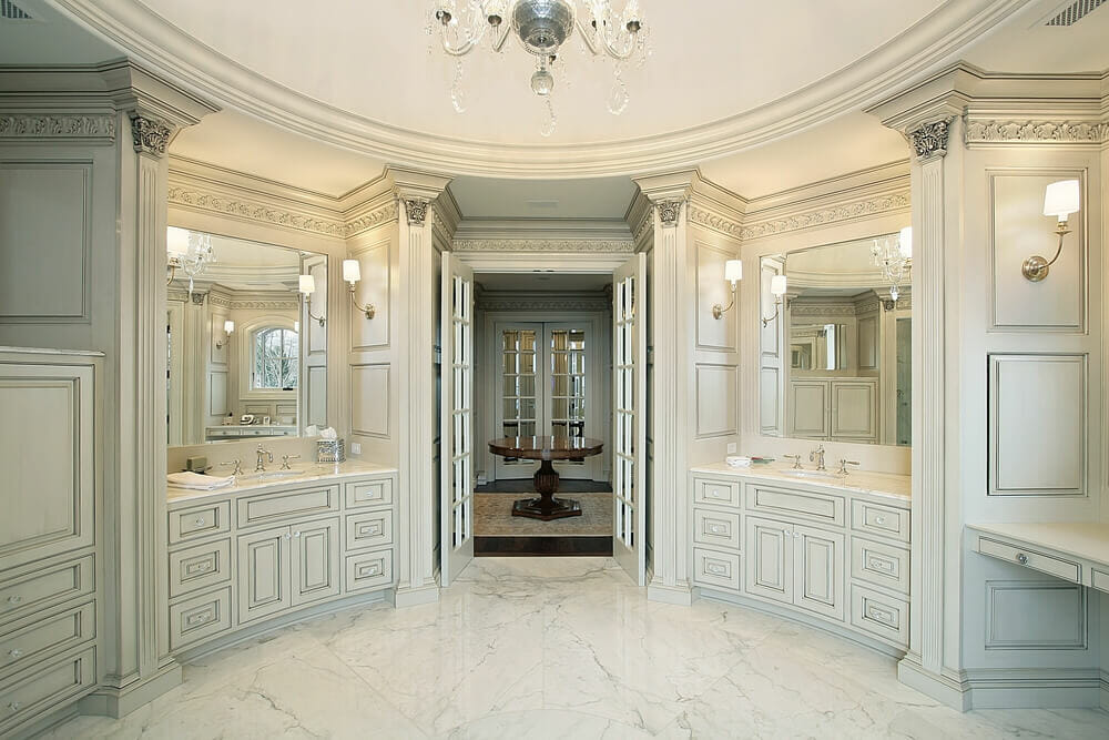 Words Do Not This Luxury Bathroom Justice The Attention To Deal In Cabinetry