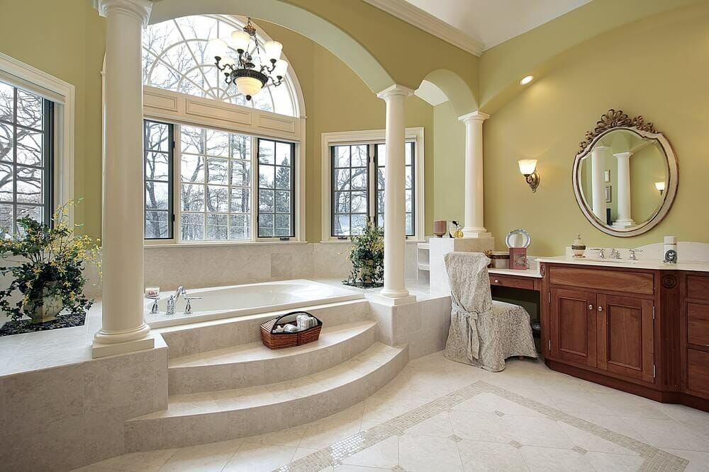 46 luxury custom bathrooms designs ideas for Custom bathroom designs