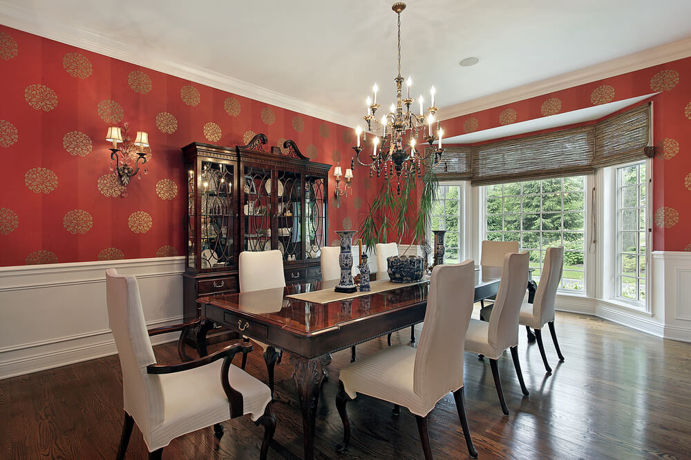 57 inspirational dining room ideas pictures love home for Dining room wallpaper designs
