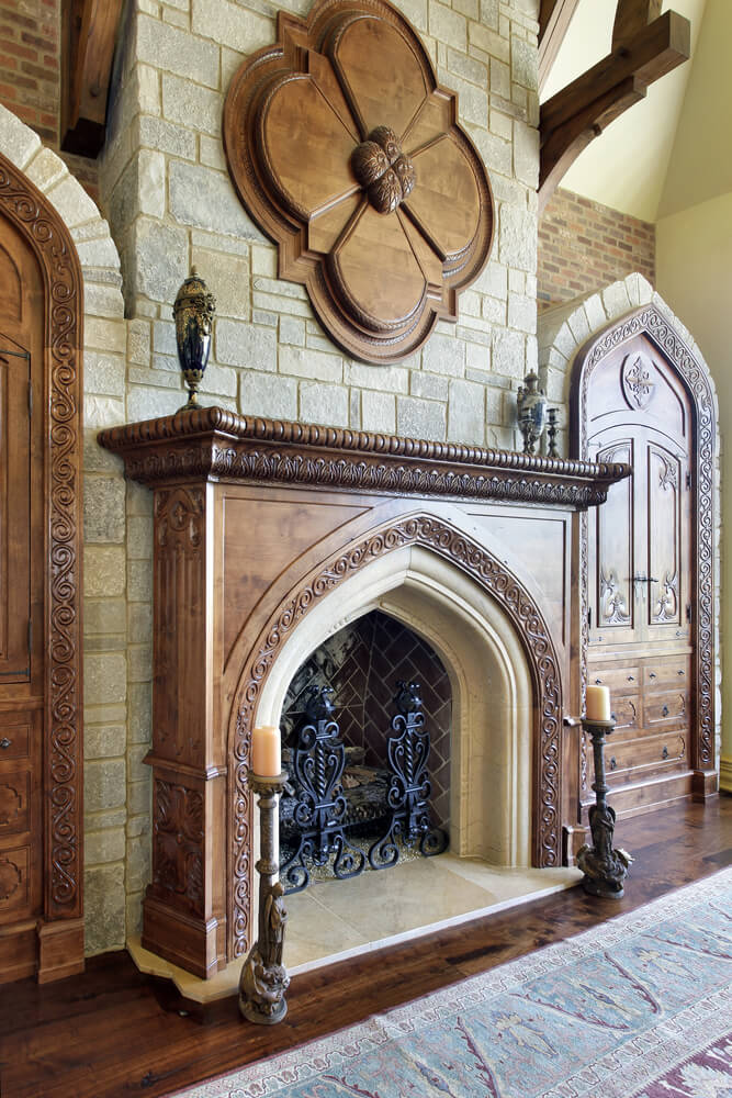 stone fireplaces rustic style arch 30 fireplace ideas and designs indoor pictures