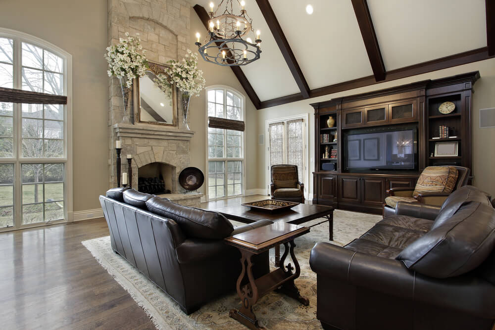 42 Living Rooms With Exposed Ceiling Beams