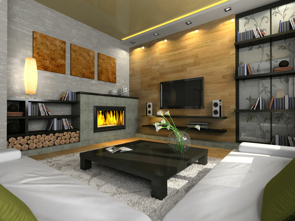 Fireplace Design modern fireplaces : 29 Modern Fireplaces You Will Love - Love Home Designs