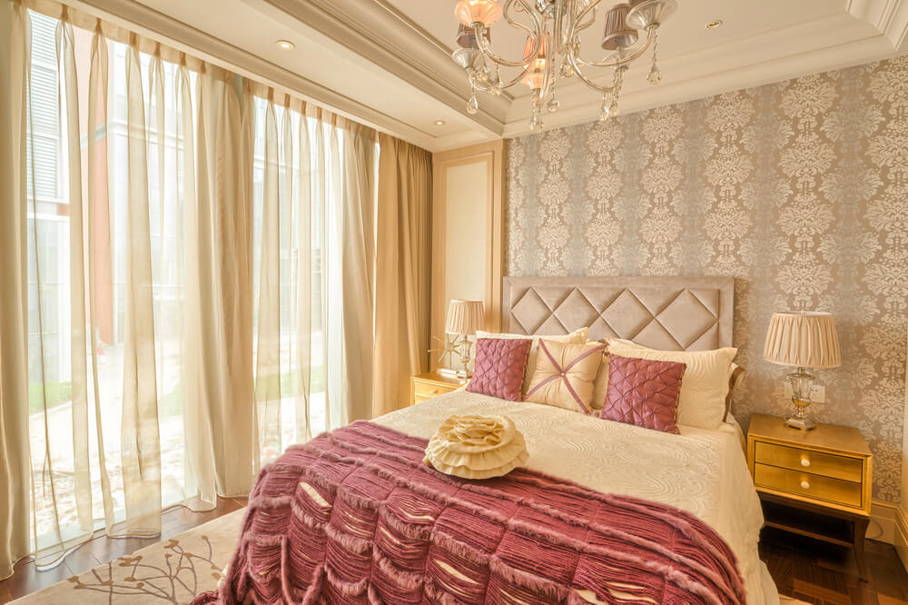 32 master bedroom ideas decorating and decor for Plum and cream bedroom designs