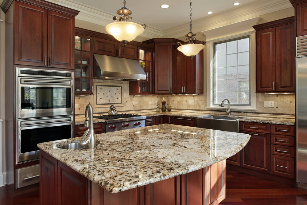 kitchens with dark brown cabinets. Without A Doubt, The Key Feature Of This Kitchen Is Oversized Island With Kitchens Dark Brown Cabinets R