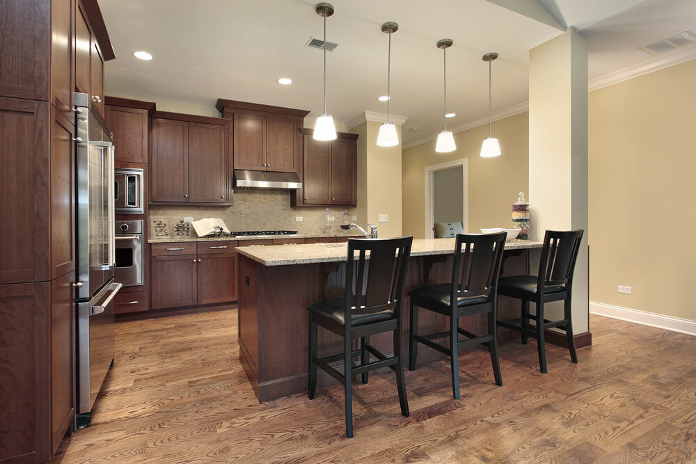 Walnut Kitchen Flooring Ideas Part - 32: Many People Believe That Brown And Black Colors Canu0027t Be Used Together, But