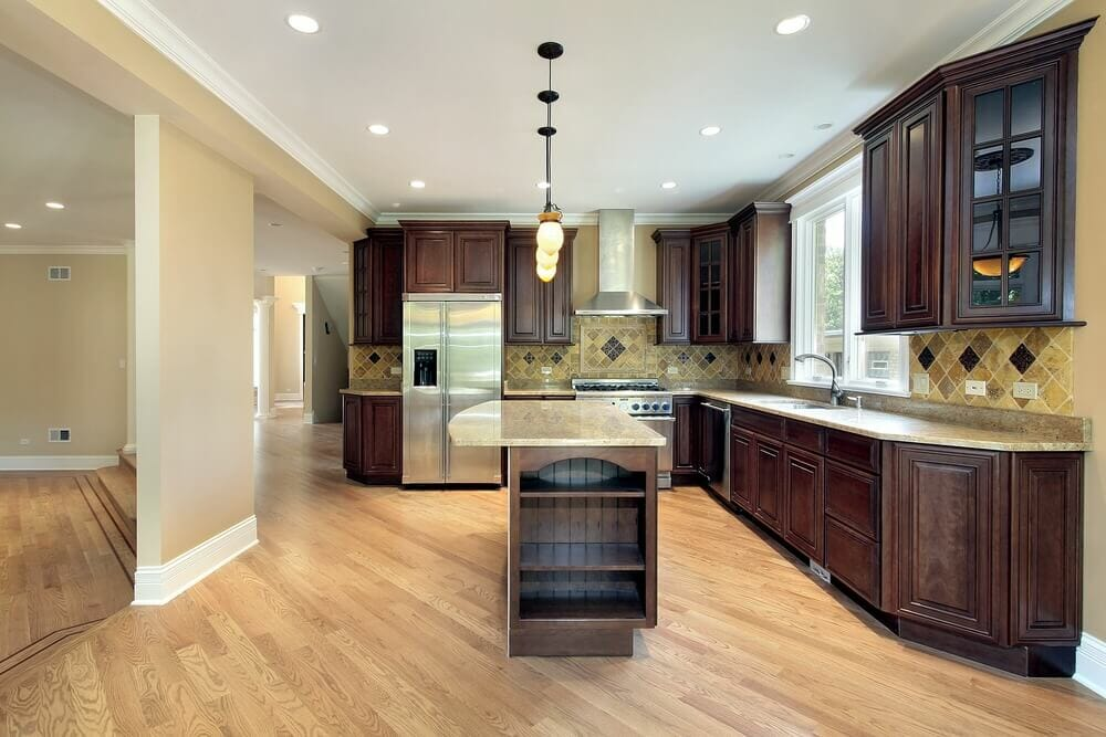 The Wood Used In This Kitchen Is Quite Dark But Not So That We