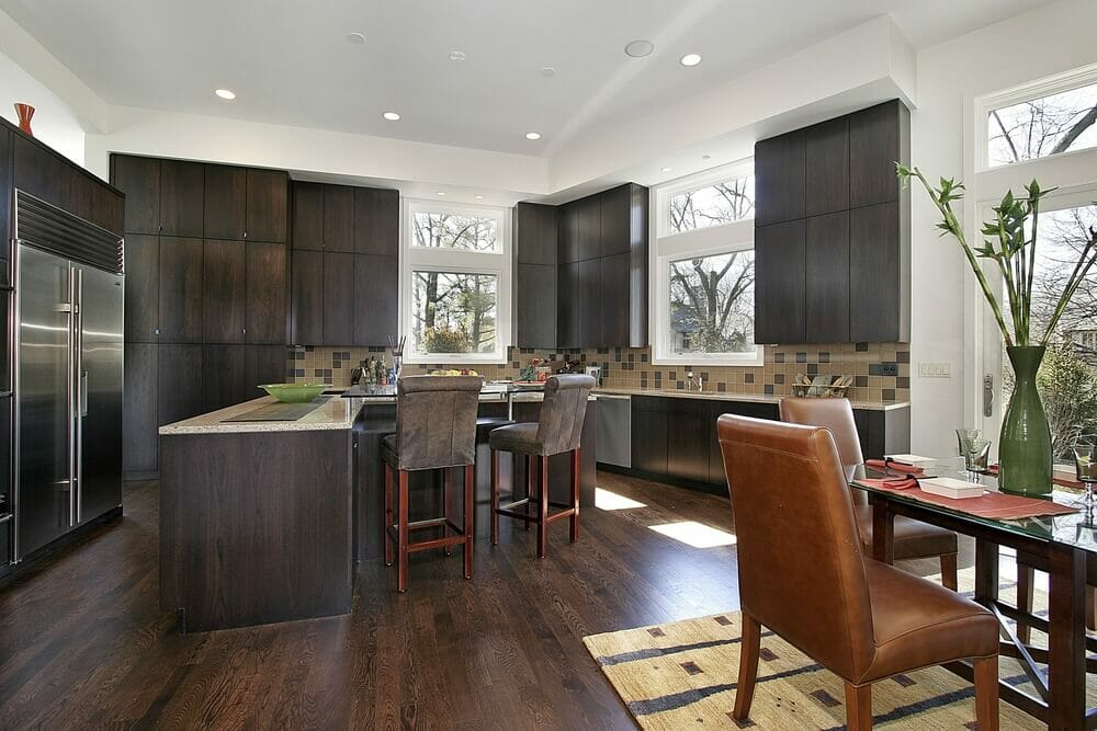 White Kitchen Vs Dark Kitchen dark kitchen ideas. espresso kitchen cabinets, love them not too