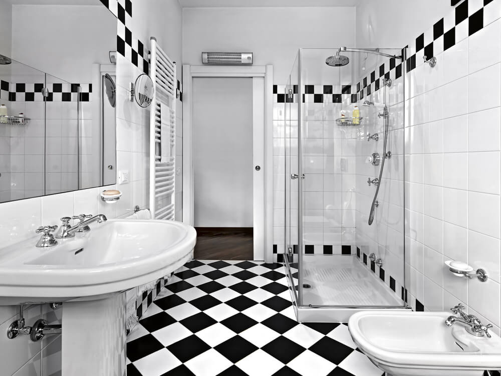 Black And White Bathroom Designs 117 custom bathroom designs  love home designs