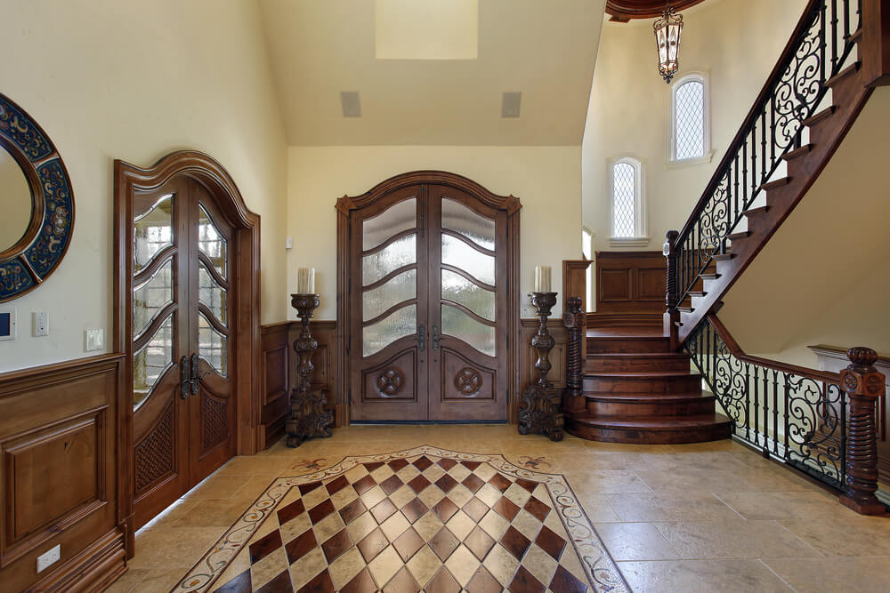 Foyer Flooring Ideas Glamorous 45 Foyer Ideas For Custom Homes  Love Home Designs Inspiration