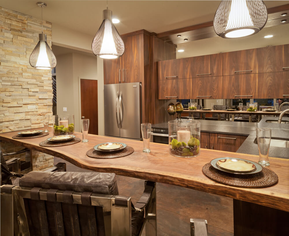 Wood counters make for great kitchen remodel ideas.