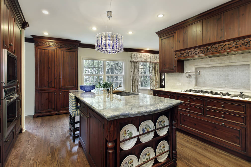 Choose unique light fixtures in your kitchen