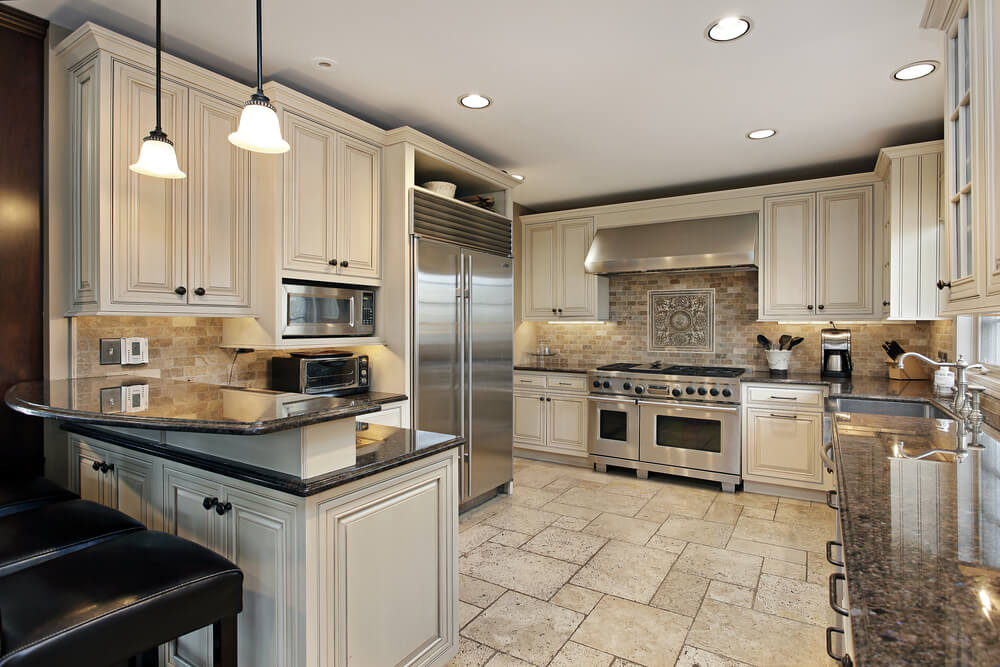 Kitchen remodel ideas island and cabinet renovation for Kitchen floor remodel ideas