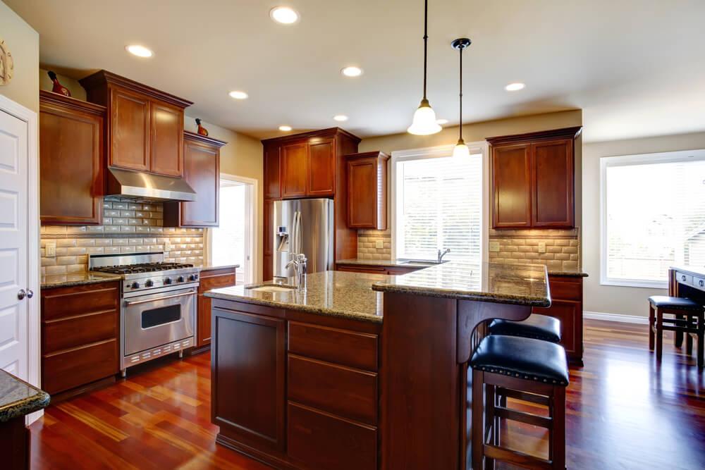 shutterstock_185355725 this custom kitchen - Kitchen View Custom Cabinets