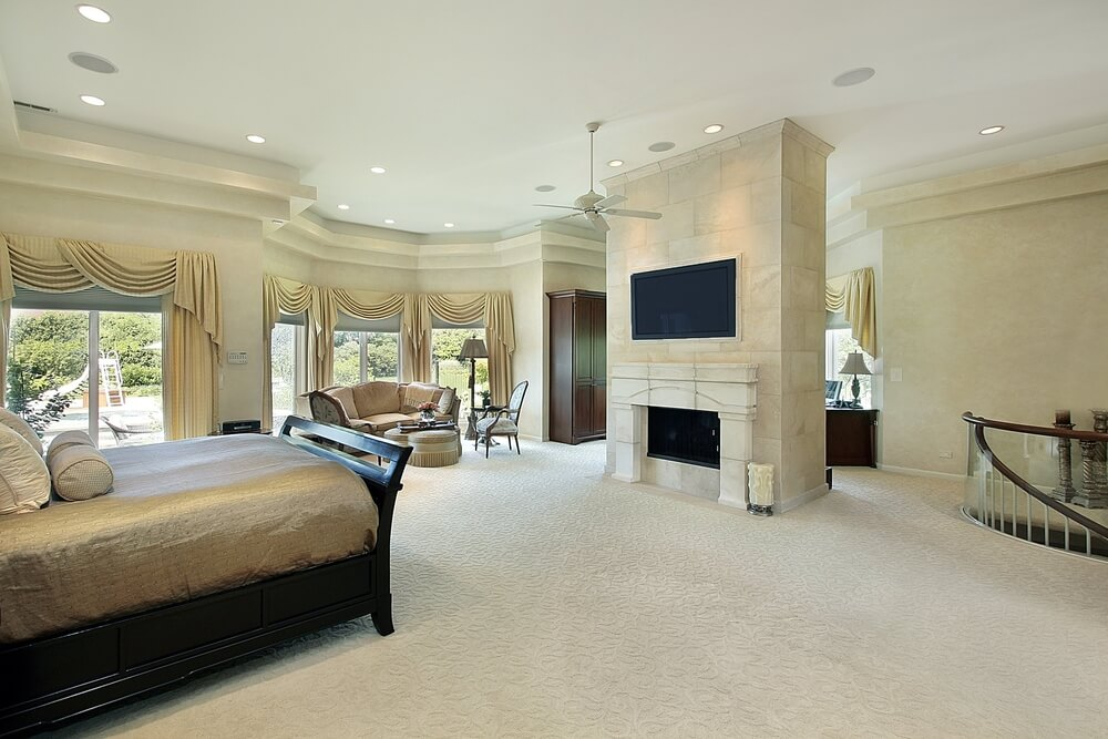 65 master bedroom designs from luxury rooms L shaped master bedroom layout