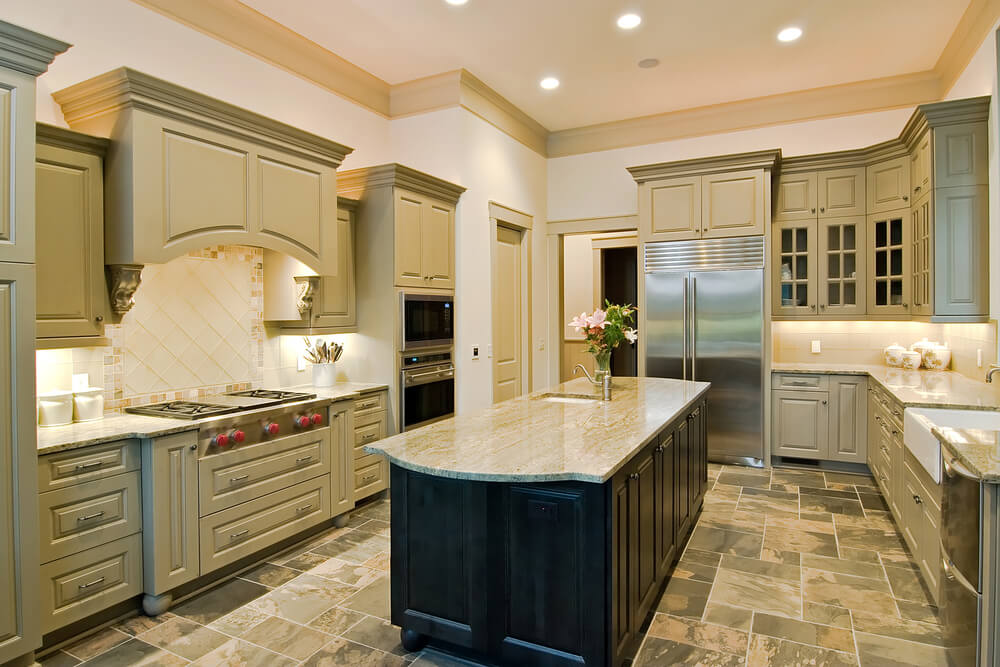 Kitchen Cabinets U Shaped With Island kitchen remodel ideas (island and cabinet renovation)