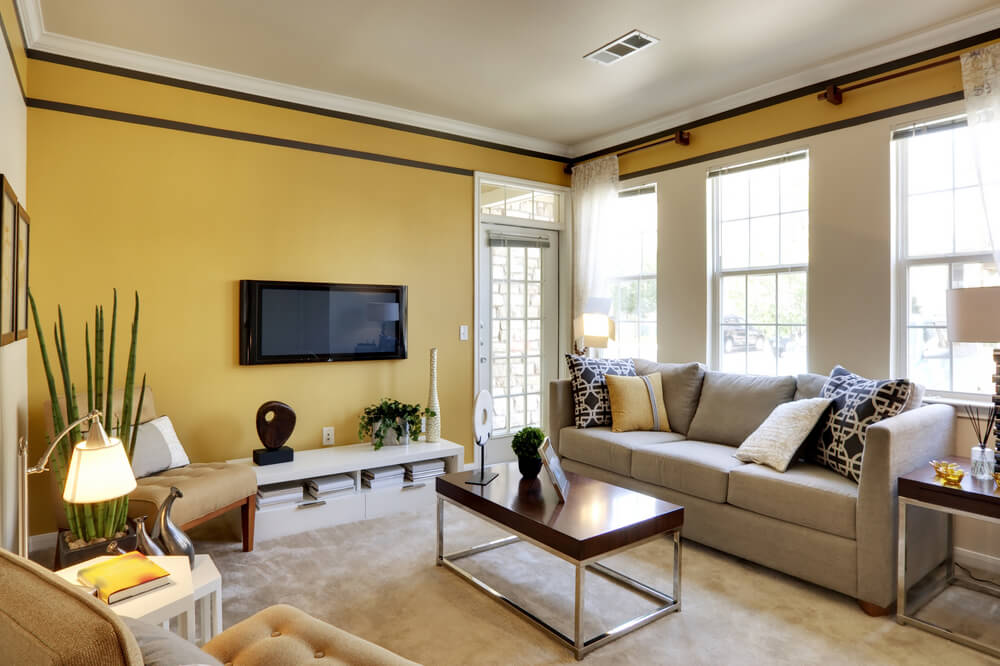 Best living room colors love home designs for Living room ideas mustard