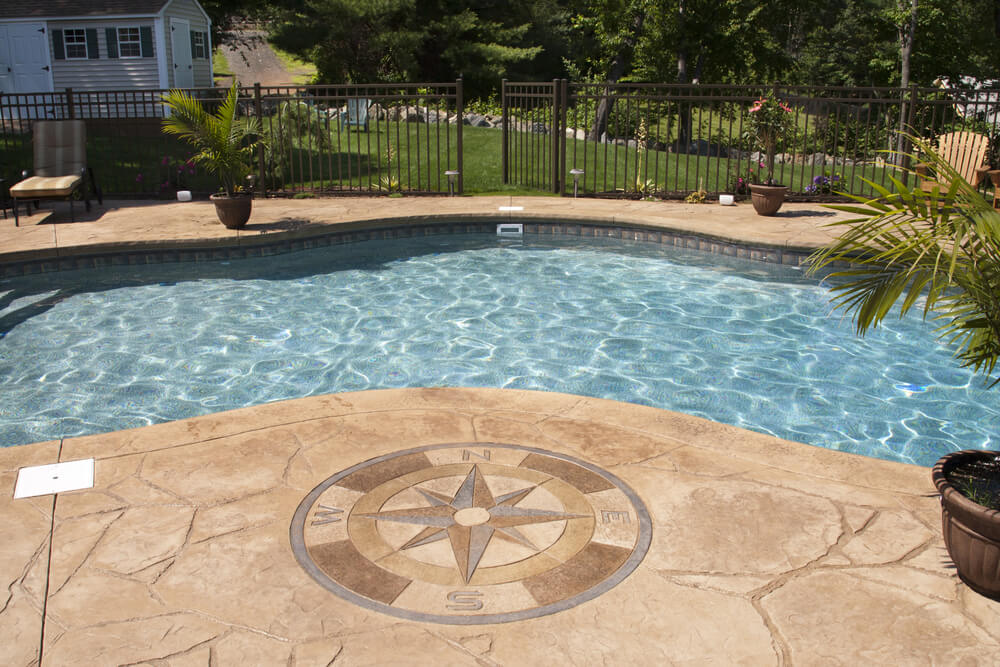 Swimming pool designs in ground pool ideas for Concrete swimming pool