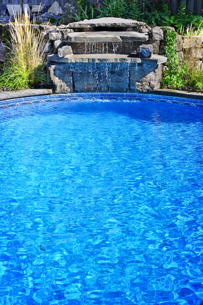 Swimming pool designs in ground pool ideas for Pool design waterfall
