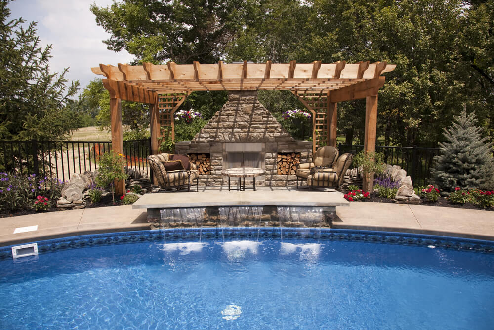 Backyard Pool Desigs backyard pool designs for your lovely house afrozepcom decor ideas and galleries Pool Gazebo