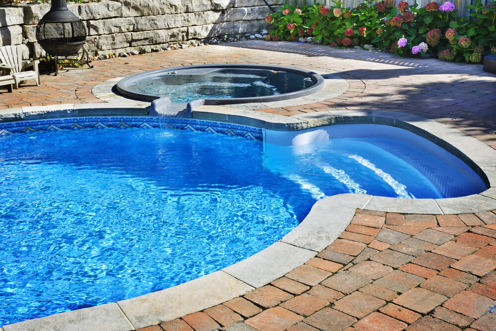 Swimming pool designs in ground pool ideas for Pool design with hot tub