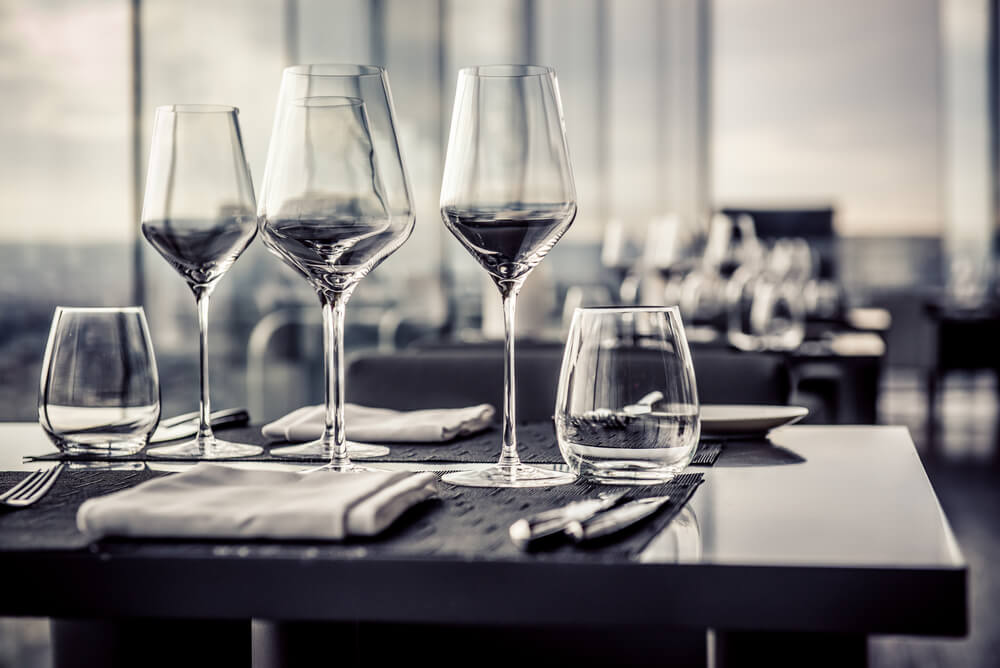 Mix and match your glassware to create a unique table setting.