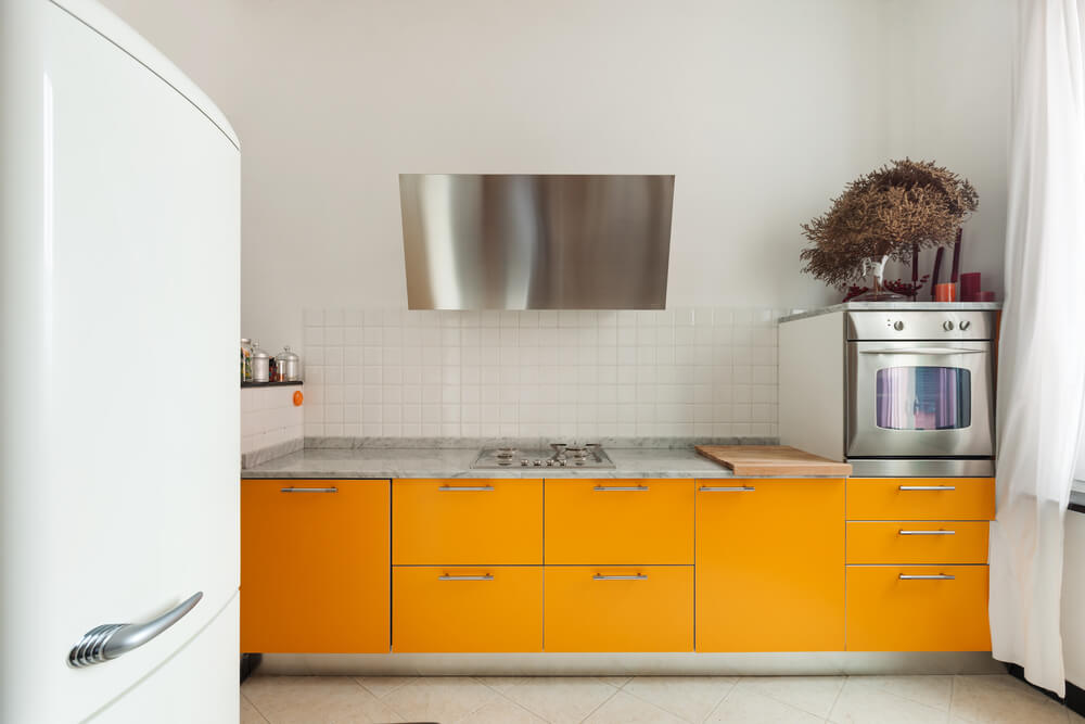 Vintage refrigerators also fit better in smaller kitchens.