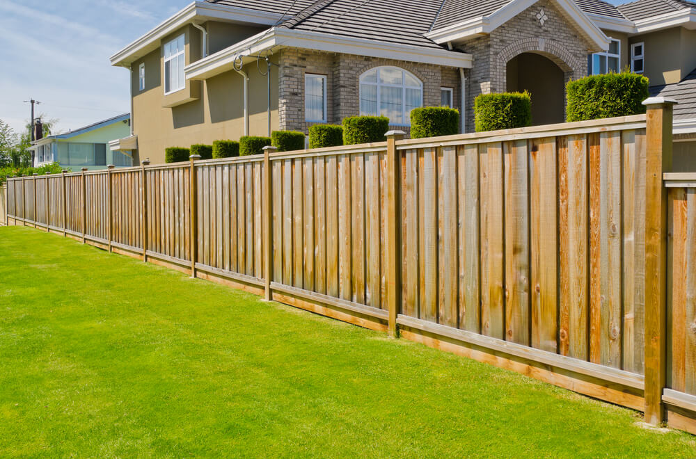 Board on board fences are beautiful while providing enhanced privacy because there are no gaps between the boards.