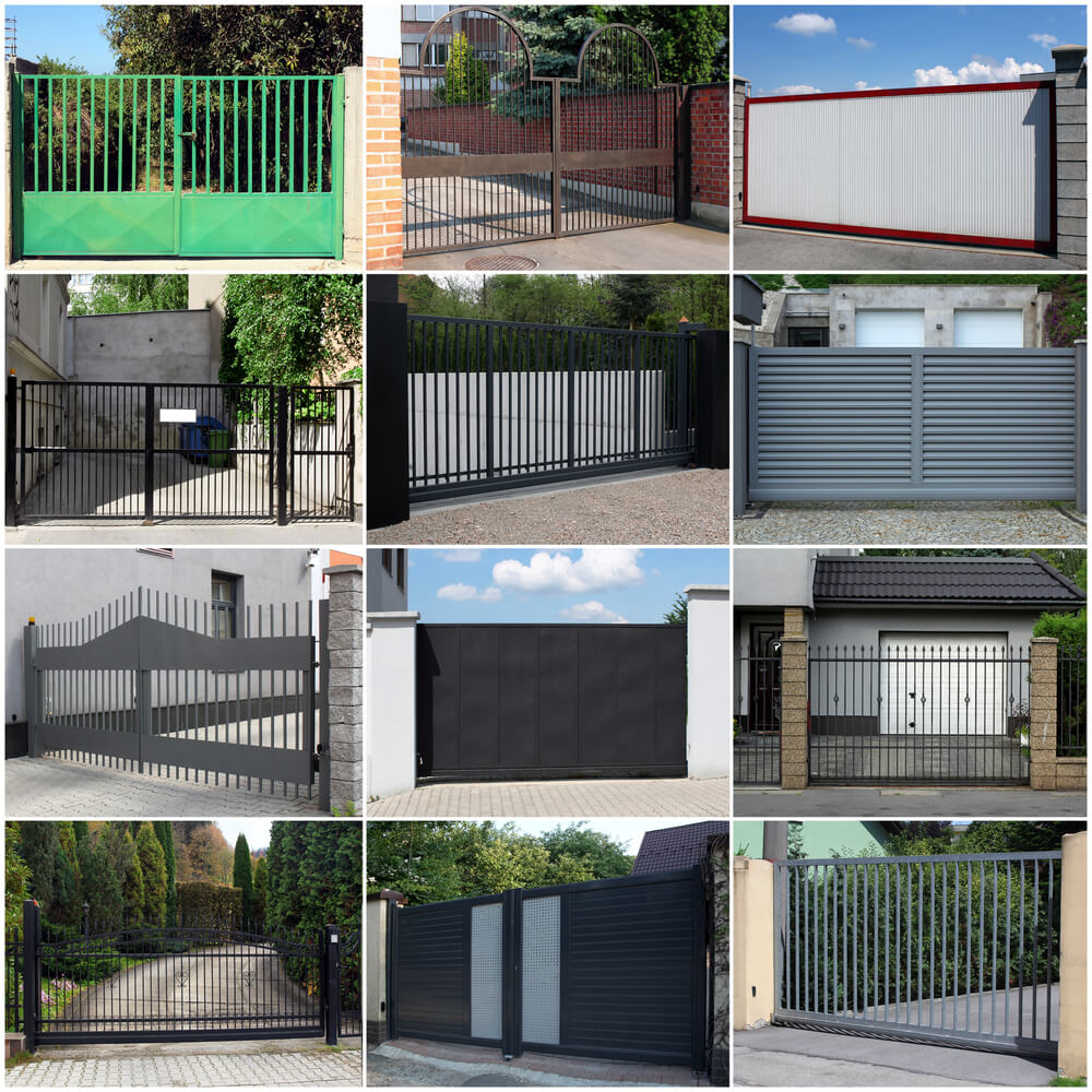 Modern house gates and fences designs modern house for Modern house gate designs