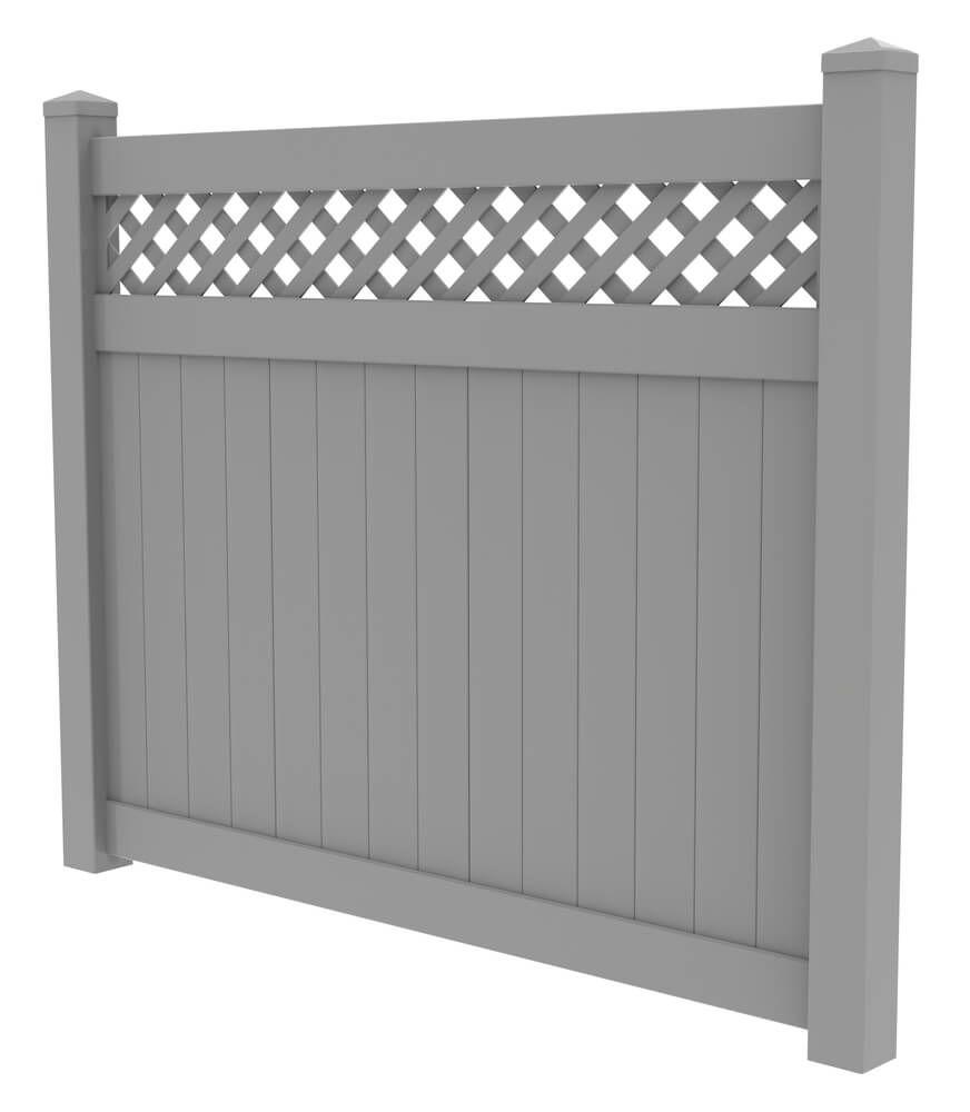 Composite fences are made up of both plastic and wood. They come in various sizes, colors, shapes, and textures.