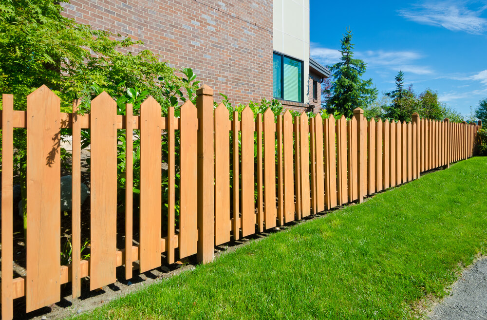 A short fence is a simply way to create a land line while keeping an open feeling in your yard.