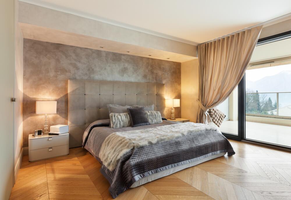 wood floor bedroom. shutterstock 254019772 32 Bedroom Flooring Ideas  Wood Floors