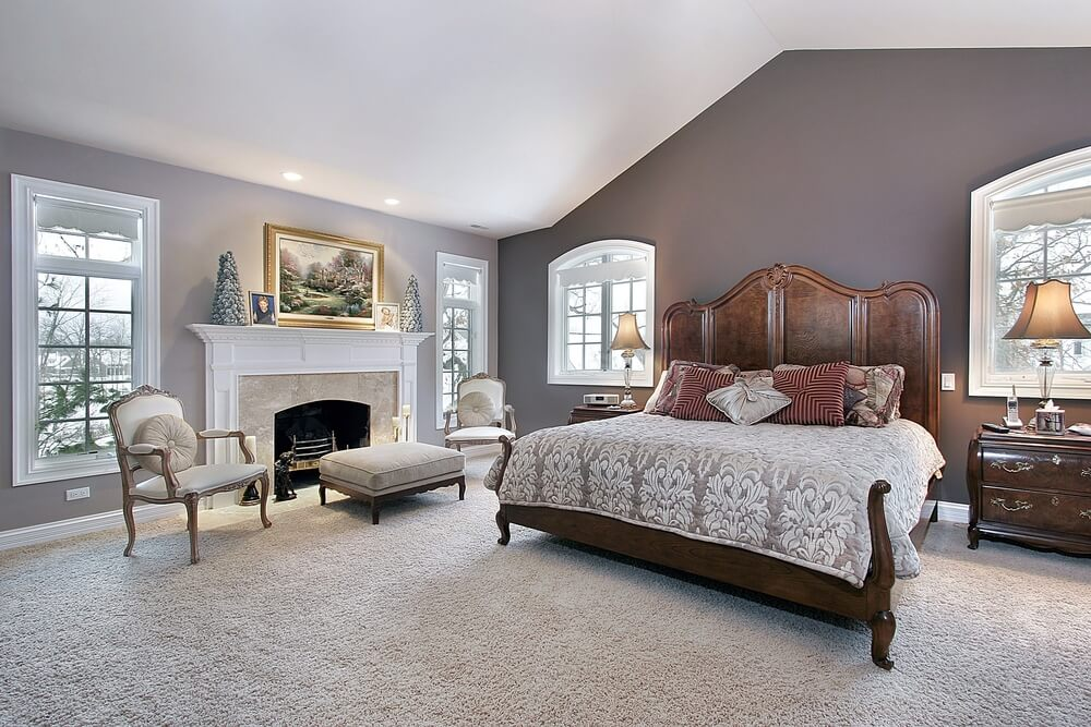 The many benefits of master bedrooms with fireplaces - Bedroom sitting area furniture ideas ...