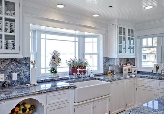 blue granite kitchen designs