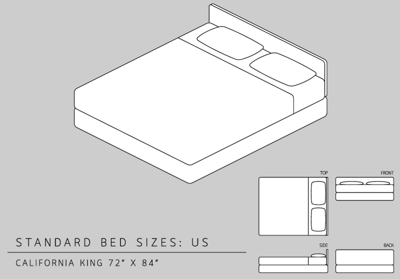 King Size Bed Dimensions Measurements California King