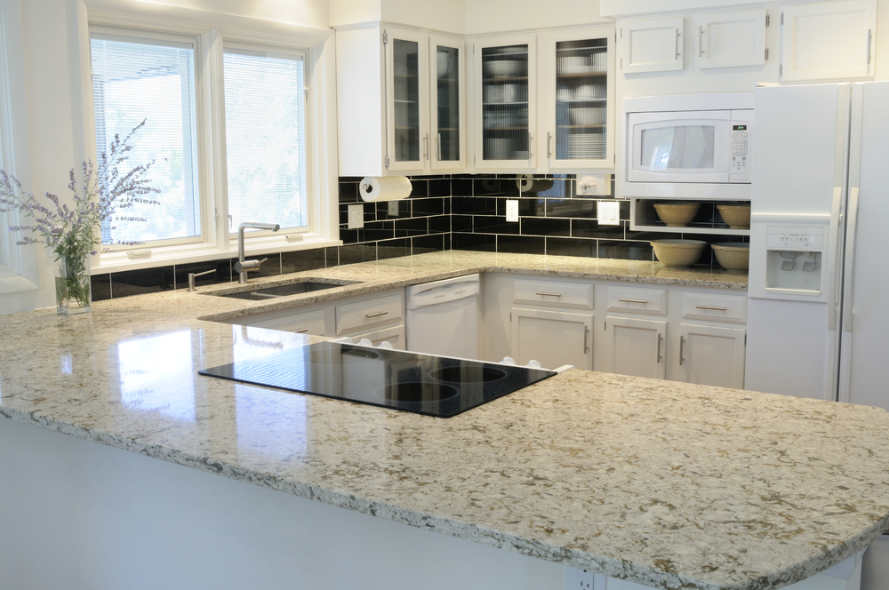 A beautiful slab of granite can really create an amazing focal point for  your kitchen and dining room  That s because the beautiful colors attract  attention. 13 Bianco Romano Granite Countertops and the Kitchens to Match
