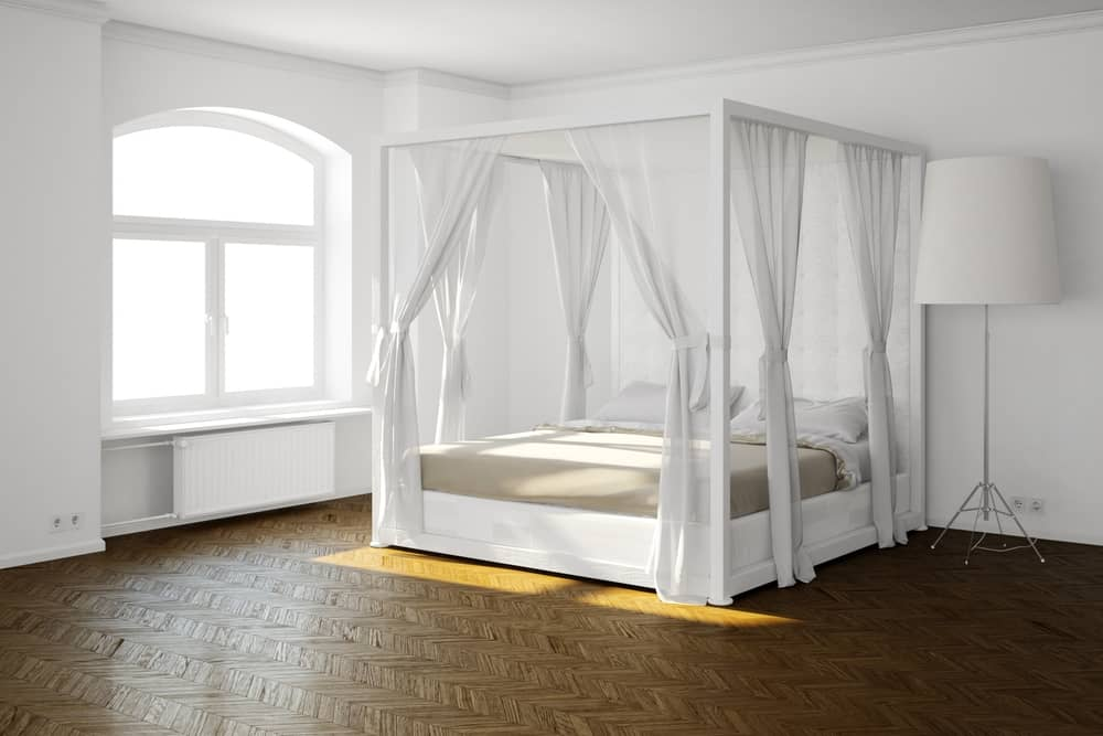A contemporary canopy bed has a thinner frame & Types of Beds (Different Mattress Sizes and Bed Styles)