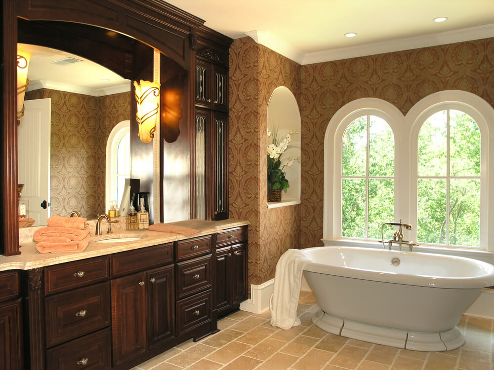 Simple Master Bathroom Designs: 46 Luxury Custom Bathrooms (DESIGNS & IDEAS