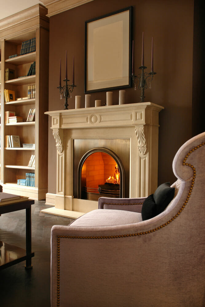 Indoor fireplace ideas home design for Indoor fireplace plans