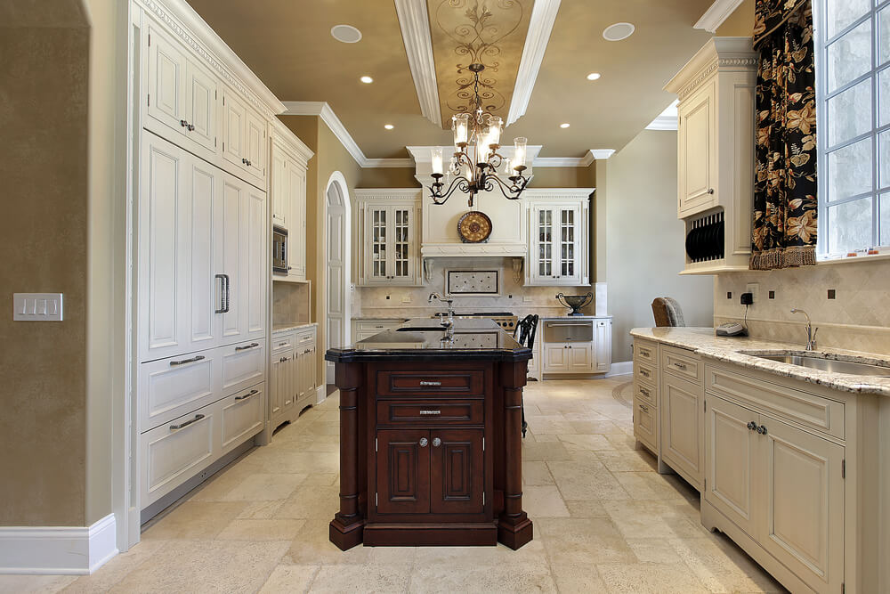Unique Kitchen Colors with Oak Cabinets Grand Tuscan Mansion Style