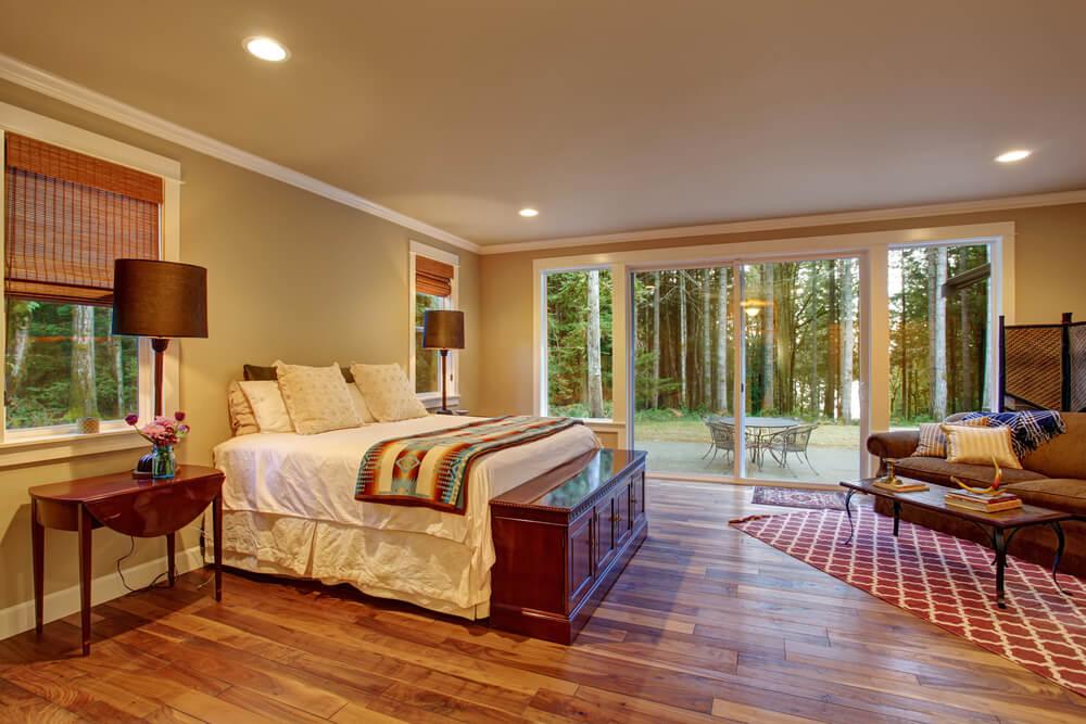 excellent wood flooring bedroom ideas | 32 Bedroom Flooring Ideas (Wood Floors)
