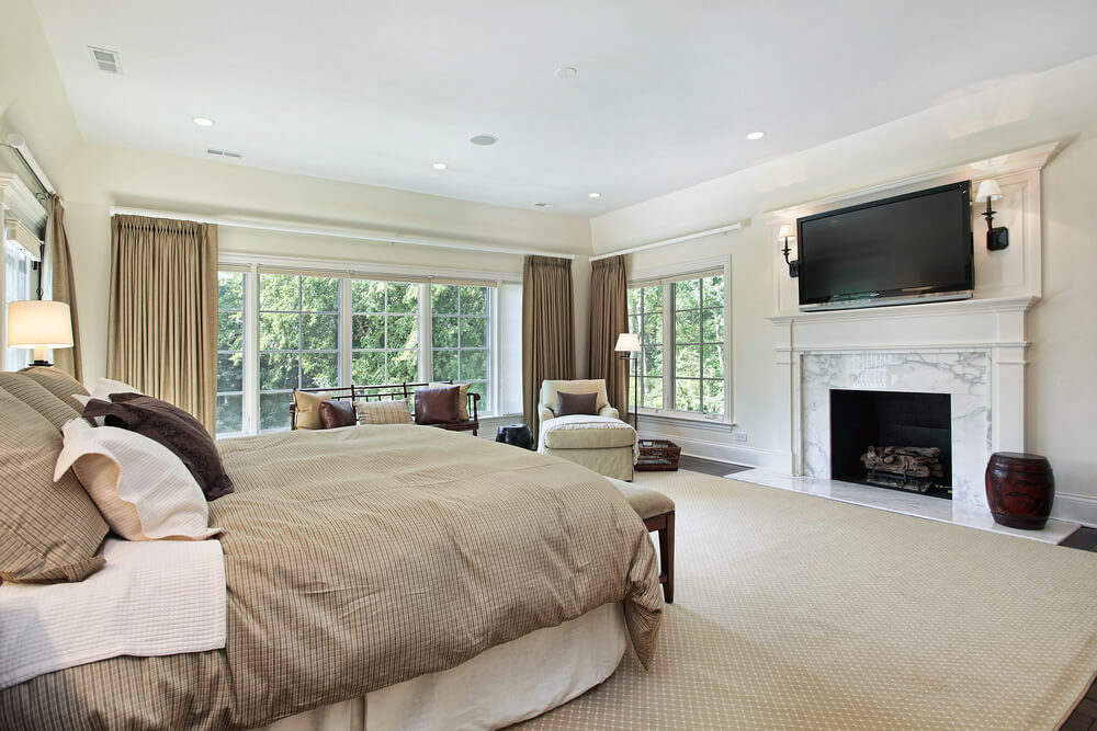 Make your bedroom even more fun to spend time in when you add a fireplace. Master bedrooms with fireplaces are the height of style